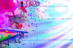 Carnival birthday party background concept Stock Photography