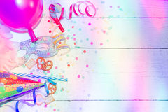 Carnival birthday party background concept Royalty Free Stock Photos