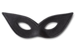 Carnival black mask with soft shadow Stock Images