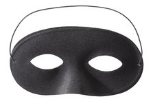 Carnival black mask on white Royalty Free Stock Photos