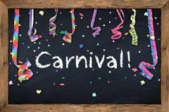 Carnival blackboard Stock Image