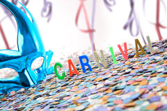 Carnival blue mask and background Stock Photography