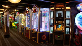 Carnival Breeze cruise ship. Arcade of the Carnival Breeze cruise ship Stock Photography