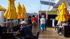 Carnival Breeze cruise ship. Deck of the Carnival Breeze cruise ship Royalty Free Stock Image