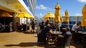 Carnival Breeze cruise ship. Deck of the Carnival Breeze cruise ship Royalty Free Stock Images