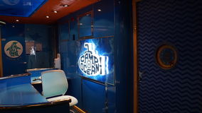 Carnival Breeze cruise ship. Interior of the Carnival Breeze cruise ship Stock Image