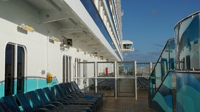 Carnival Breeze cruise ship. Sailing away from Florida Stock Images