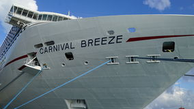 Carnival Breeze docked in Grand Turk, Turks and Caicos Islands Royalty Free Stock Photography