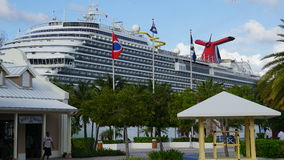 Carnival Breeze docked in Grand Turk, Turks and Caicos Islands Royalty Free Stock Images