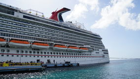 Carnival Breeze docked in Willemstad, Curacao Royalty Free Stock Photo