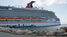 Carnival Breeze docked in Willemstad, Curacao Stock Photo
