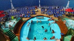 Carnival Breeze sailing away from La Romana, Dominican Republic Stock Photo