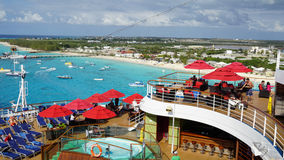 Carnival Breeze sailing away from La Romana, Dominican Republic Stock Images