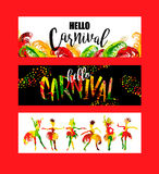 Carnival. Bright festive banners trending abstract style. Stock Image