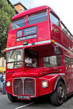 Carnival bus. LONDON - AUGUST 25: An old London Routemaster bus takes part in the Notting Hill carnival playing host to performers and musical bands on August 25 Stock Photography