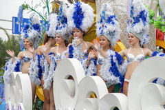 Carnival cabaret dancers Royalty Free Stock Photography