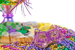 Carnival cake. With colorful beads
