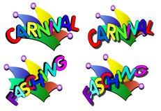 Carnival caps royalty free stock photo