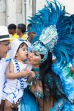 Carnival celebration at Pelourinho in Salvador Bahia, Brazil. royalty free stock images