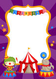 Carnival circus card Royalty Free Stock Photography