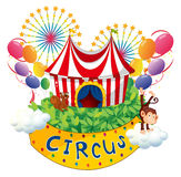 A carnival with a circus signboard Stock Photos