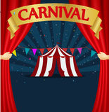Carnival and circus tent poster Stock Photo