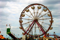 Carnival on cloudy day Stock Photo