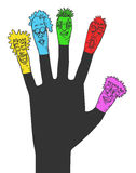 Carnival color puppets. Creative design of carnival color puppets Stock Photography