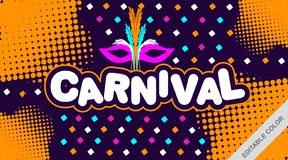 Carnival With Colorful Background - Vector stock illustration