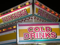 Carnival Concession Sausage Royalty Free Stock Image