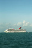 Carnival Conquest Cruise Ship anchors near Belize City Stock Image