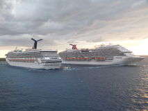 Carnival Conquest & Magic ships Stock Images