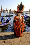 Carnival costume- Venice. Person in Carnival costume- Venice, Italy Royalty Free Stock Photo