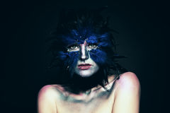 Carnival costume. Woman with Fantasy Makeup Stock Images