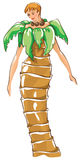 Carnival costumes -  palm tree Stock Images
