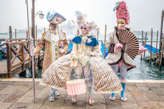 Carnival costumes trio Royalty Free Stock Photography