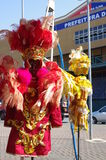 Carnival costumes used by samba dancers Royalty Free Stock Photos