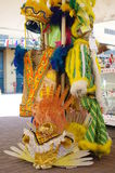 Carnival costumes used by samba dancers Stock Images