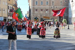 Carnival with countries`s flags. Carnival in Portugal with countries`s flags Royalty Free Stock Image