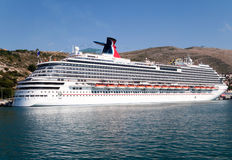 Carnival Cruise Dream. The newest ship in Carnival Cruise fleet named The Dream, which had its inaugural cruise on Sept. 21st, 2009.  This is also the largest Stock Image
