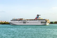 Carnival Cruise Line, cruise ship leaves the harbor Royalty Free Stock Images