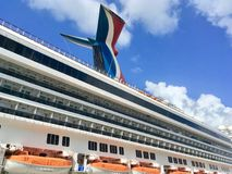 Carnival Cruise Line`s ship Carnival Liberty Royalty Free Stock Images