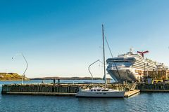 Halifax, Nova Scotia, Canada - October 20 2016: Carnival Sunshine Cruise Ship in Port of Halifax, Canada stock photography
