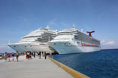 Carnival cruise ships Stock Images