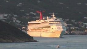 Carnival cruises liner departs St Thomas, USVI