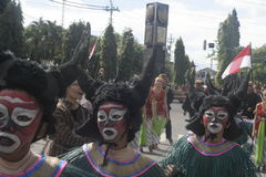 CARNIVAL CULTURE IN THE DISTRICT SUKOHARJO Stock Images