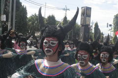CARNIVAL CULTURE IN THE DISTRICT SUKOHARJO Royalty Free Stock Images