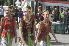 CARNIVAL CULTURE IN THE DISTRICT SUKOHARJO Royalty Free Stock Photography