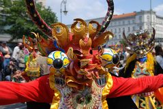Carnival of cultures in Berlin. 31 May 2009. Street parade Stock Photo