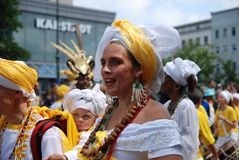 Carnival of cultures in Berlin. Berlin, 31 May 2009 - Carnival of Cultures  - festival of different cultures in Berlin to celebrate cultural diversity Royalty Free Stock Photography